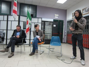 Sun Wen-Long speaks to politicians in Bologna on Feb. 16, 2012. (Photo by Suzanne Ma)