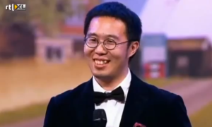 Holland's Got Talent Xiao Wang, 30, laughed off Gordon's comments.